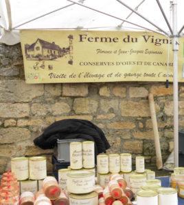 Lokale markt wijn
